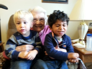 Great-Grandma, Max and Knox!